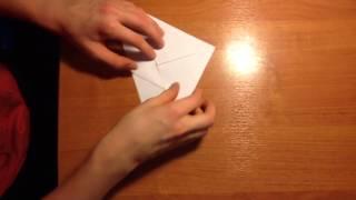 Как сделать долго летающий самолетик из бумаги!