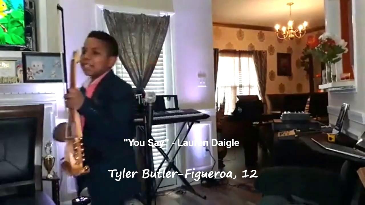 """You Say"" - Lauren Daigle - (violin cover) Tyler Butler-Figueroa 12 Survivor Worship AGT Champions"