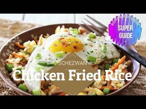 Tasty and healthy way to cook chicken kebab schezwan fried rice at home