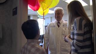 Capitani family surprises physician - Penn State Hershey Medical Center