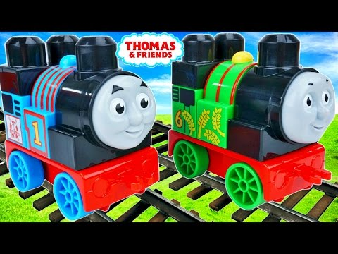 THOMAS AND FRIENDS MEGA BLOKS TANK ENGINE PLAYSETS PERCY TODDLER BUILDING BLOCKS TRAINS