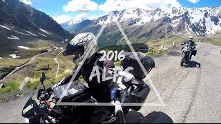 RIDING THE ALPS - BMW F 800 GS - KAWASAKI ER-6N | GOPRO 2016