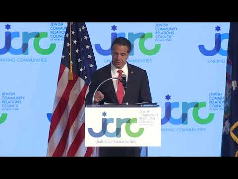 "Gov. Andrew Cuomo pledged his support for Israel and plans a return ""security and solidarity"" trip during a gala dinner sponsored by the Jewish Community Council of New York."