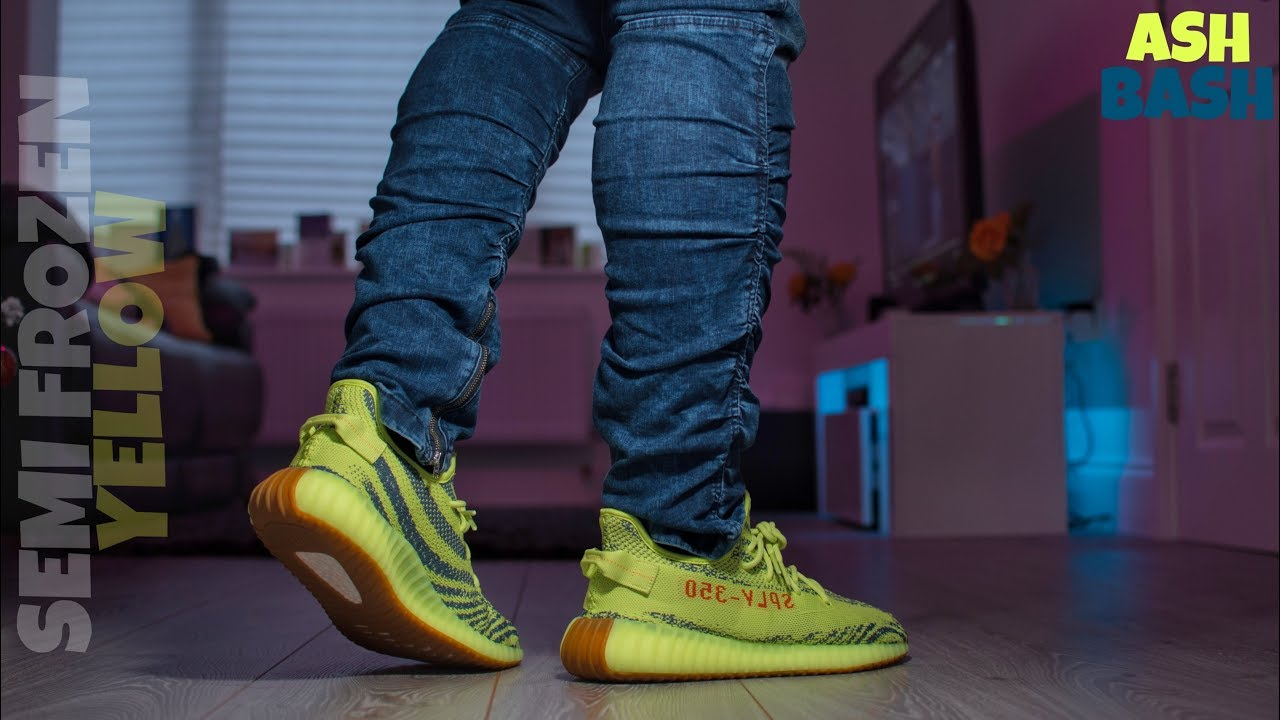 Review + On Feet | adidas Yeezy 350 V2 'Semi-Frozen Yellow' | Ash Bash