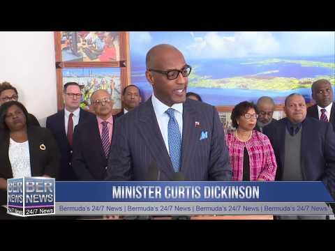 Finance Minister Curtis Dickinson, January 17 2020