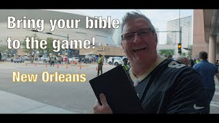 VLOG - Jim Daly Travels to New Orleans - Supporting Drew Brees - Saints Game - Bring Your Bible