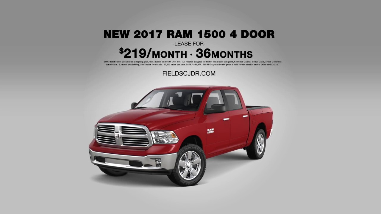 Truck Month At Fields Chrysler Jeep Dodge Ram Ram Four - Chrysler capital bonus cash