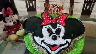 Minnie Mouse Cake Easy and Step By Step Recipe Cartoon Character Cake for Birthday Girl