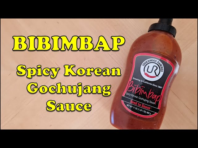 Bibimbap Spicy Korean Gochujang Sauce Review