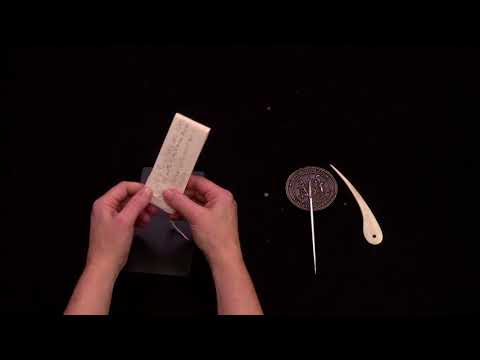 Letterlocking: Mary Queen of Scots last letter, a butterfly lock, England (1587)