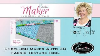 Embellish Maker Auto 3D Fabric Texture Tool