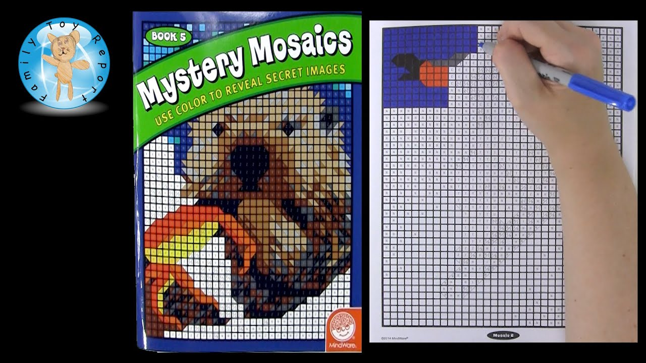 Mindware Mystery Mosaics Book 5 Coloring Book Review