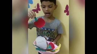 Food  basket  show and tell competition.//jugnu show his food basket