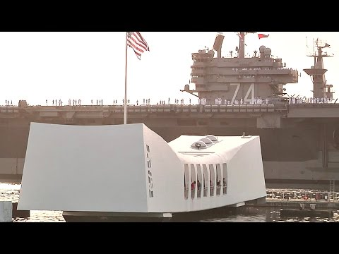 USS John C. Stennis Renders Honors to the USS Arizona Memorial