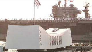 USS John C. Stennis Renders Honors to the USS Arizona Memorial