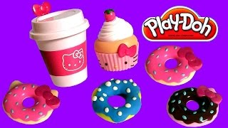 Play Doh Hello Kitty Donuts For Breakfast Play-Dough Beignets Doughnuts キャラクター練り切り ハローキティ