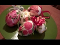 DIY tutorial how to decoupage polystyrene eggs with napkin.
