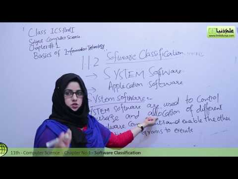 ICS Computer part 1, Software Classification - Ch 1 Basics of Information Technology - ICS Part 1