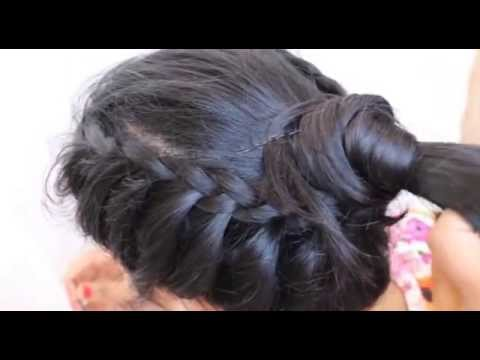 Simple Hair Style For Party WeddingSaree Gown HairstyleBraid - Hairstyle bun videos