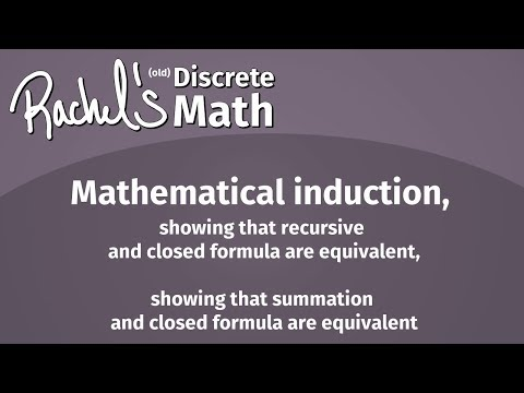 Rachel's Discrete Math Course - Proofs about Numbers (Lecture 8) - old version