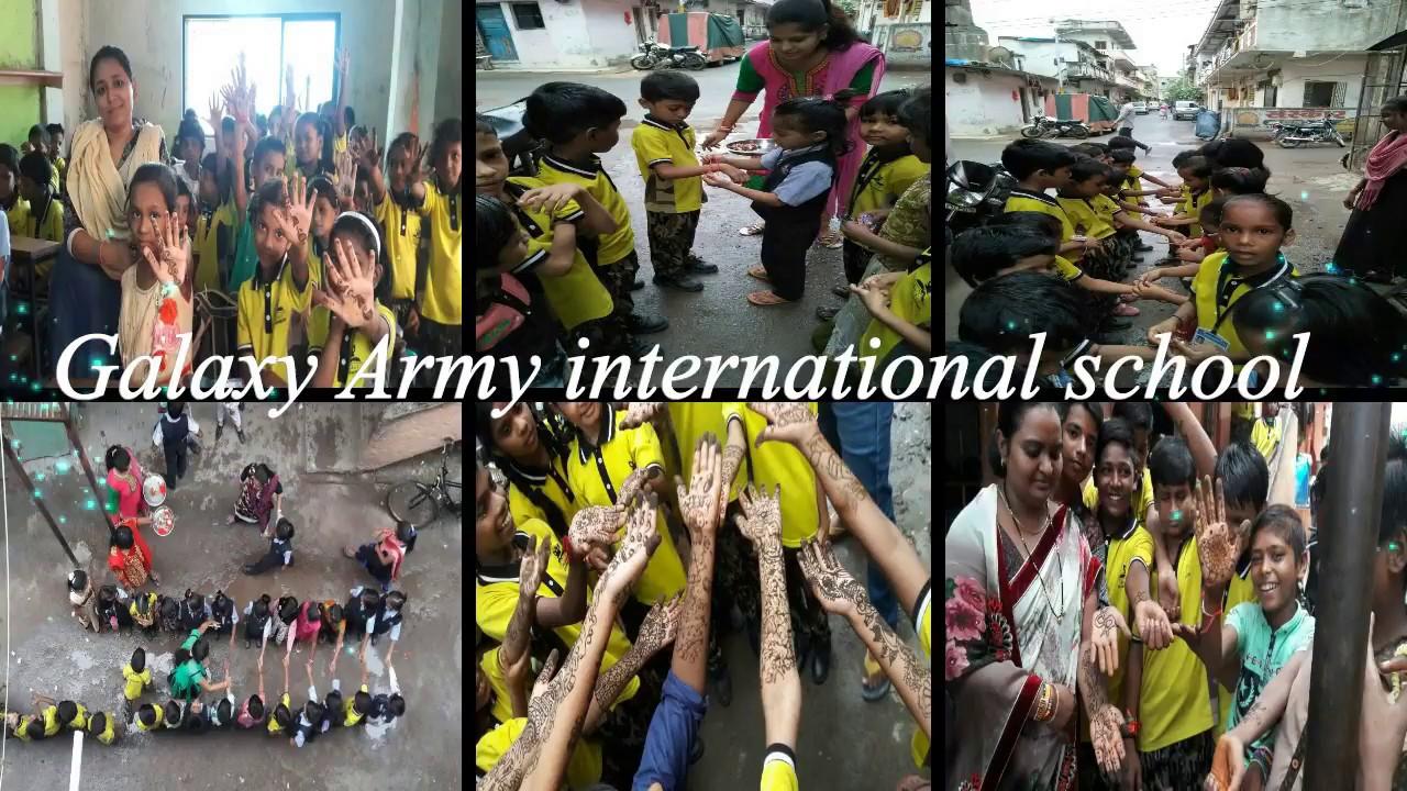 Mehndi Army : Best mehndi designs competition on galaxy army school youtube