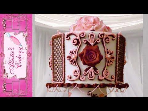 """Maroon Marvel"" Top Tier. Display Wedding Cake"