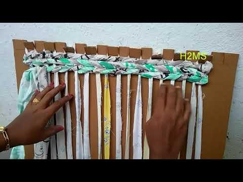 How to make simple doormat/rug/area rug/diy amazing handmade carpet/old clothes recycling ideas/