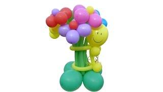 БУКЕТ ИЗ ВОЗДУШНЫХ ШАРОВ своими руками  Balloon Bouquet