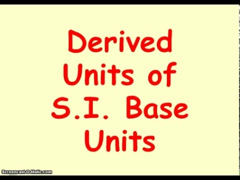 Derived Units of SI Base Units