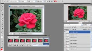 Анимация в PhotoShop Перемещение объекта по фону.mp4