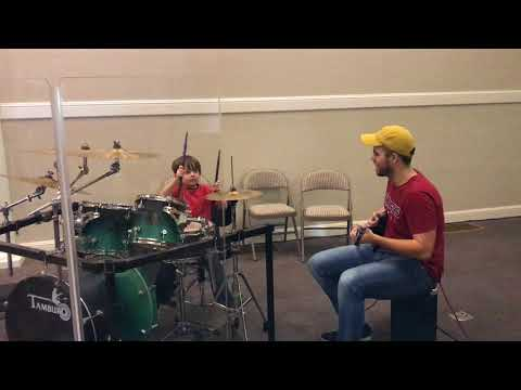 Parker Young from Palestine AR on the drums