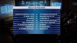 Draw results UEFA Champions League 2018   Kết quả bốc thăm Cup C1 2018