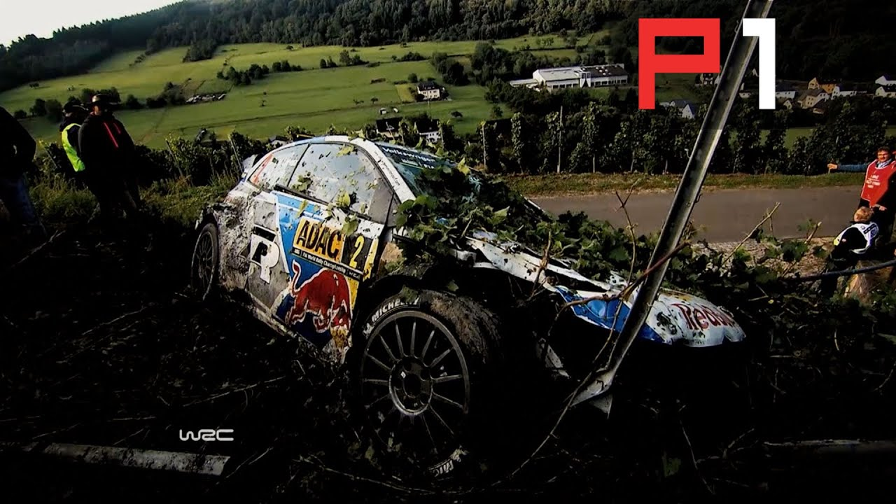 Massive rally crashes ogier latvala at rally deutschland 2014
