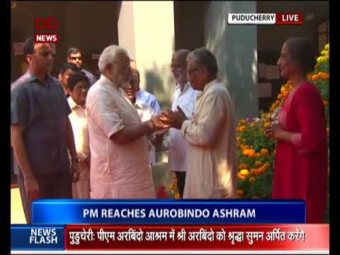 PM Modi pays tribute at Samadhi of Sri Aurobindo and the Mother in Puducherry