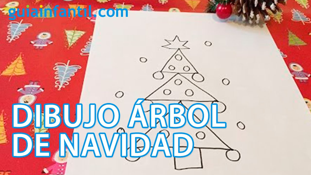 cmo dibujar un rbol de navidad con los nios manualidad para nios youtube