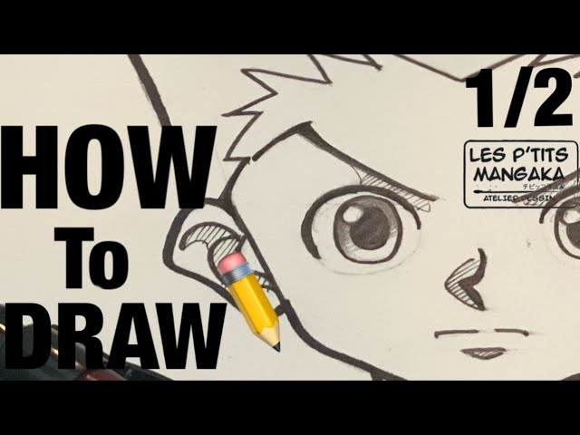 L'atelier des p'tits mangaka : How to draw Gon - Hunter X Hunter  [step by step] 1/2