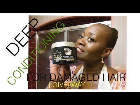 Natural Hair: Deep Conditioning For Damage Hair! + GIVEAWAY!