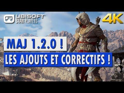 Assassin's Creed Origins Patch 1.2.0 (MAJ) Tous les Ajouts & Correctifs détaillés.