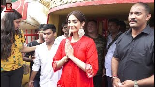 Sonam Kapoor Arrives At Shani Tample For Her Movie The Zoya Factor