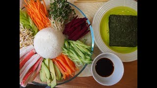 Простые корейские рецепты: овощные рулетики (야채쌈) Я ЧХЕ ССАМ
