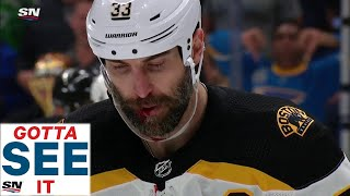 GOTTA SEE IT: Zdeno Chara Bloodied After Taking Puck To Face In Game 4