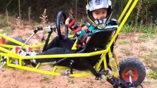 "Electric Off Road Go-kart Built At Home - Stage 1 ""the Billy Cart"" 2012"