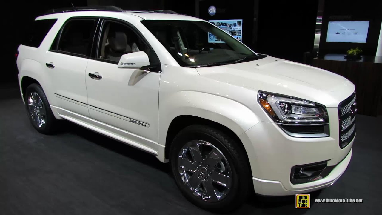 2014 gmc acadia denali exterior and interior walkaround 2014 chicago auto show youtube. Black Bedroom Furniture Sets. Home Design Ideas