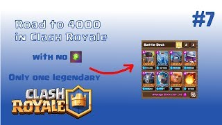 Road to 4000 in Clash Royale | Winning deck with Giant  | #7