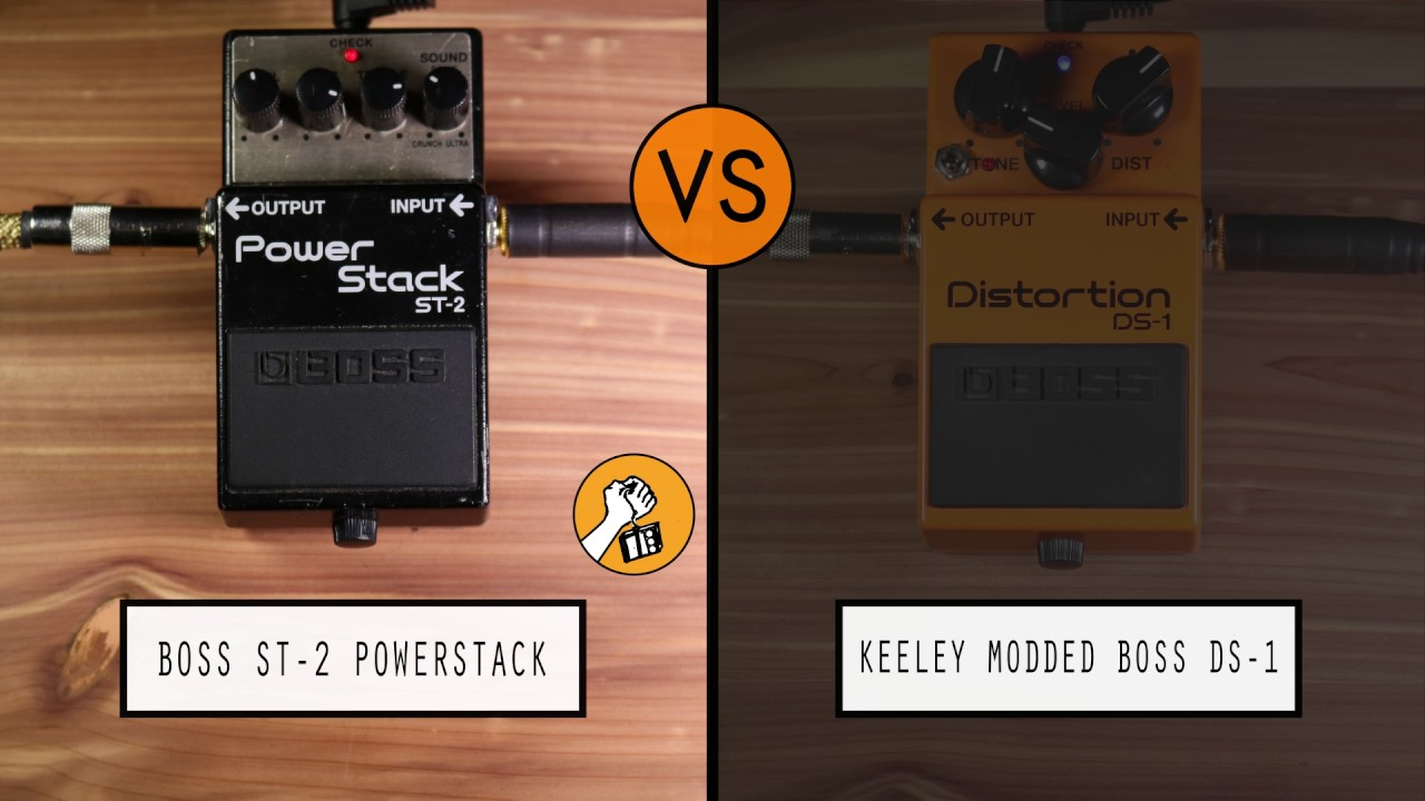 boss st 2 power stack vs keeley modded boss ds 1 youtube. Black Bedroom Furniture Sets. Home Design Ideas