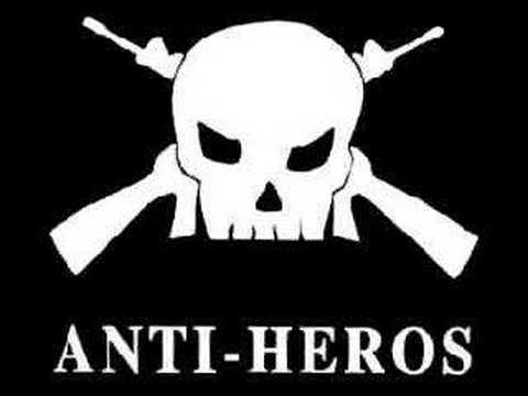 anti heros- red and white and black and blue