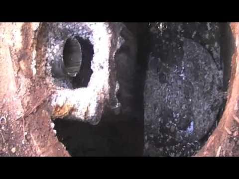 DIY septic tank baffle repair