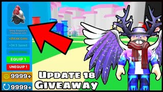 Update 19 Giveaway! Giving away update 18 and 19 pets! Roblox Live Magnet Simulator!