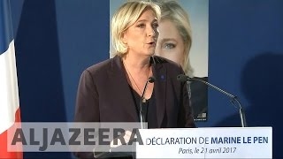 French presidential candidate Marine Le Pen says 'the country is at war'