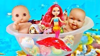 Куклы Пупсики Беби Элайв Барби Русалочка  на русском открывают Сюрпризы Frozen Маша и Медведь Barbie